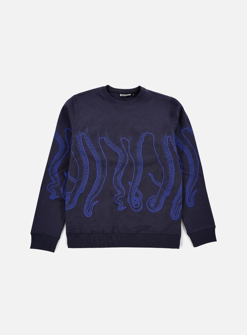 felpe octopus octopus crewneck navy blue out