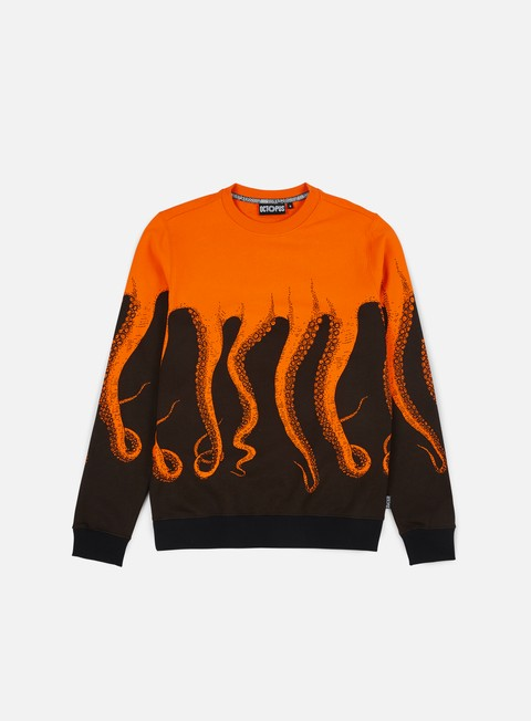 felpe octopus octopus crewneck orange