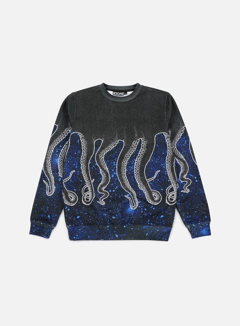 felpe octopus octopus crewneck poly dirty blu