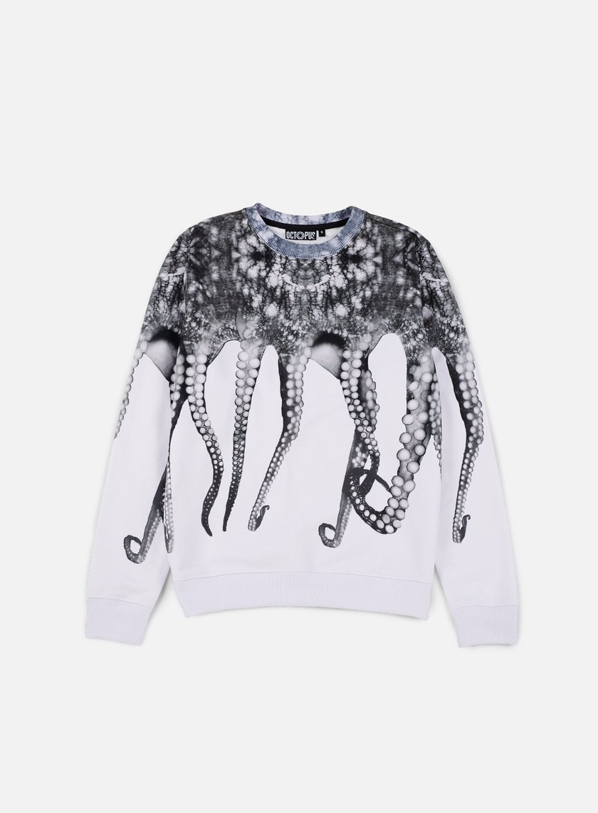 Octopus - Octopus Crewneck Poly, White