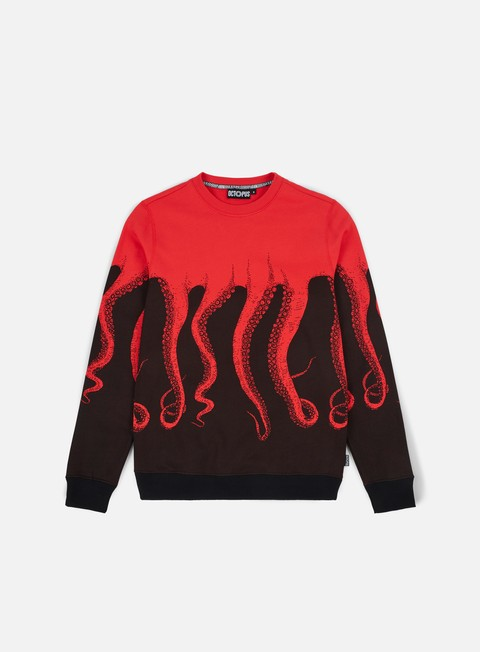 felpe octopus octopus crewneck red