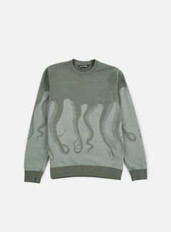 Octopus - Octopus Dyed Crewneck, Army 1