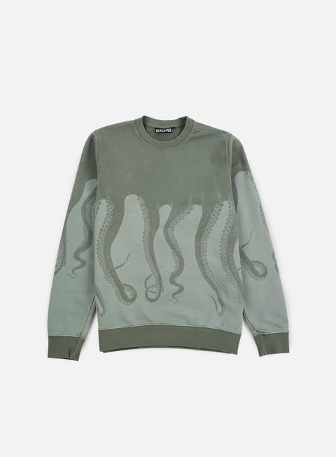 felpe octopus octopus dyed crewneck army