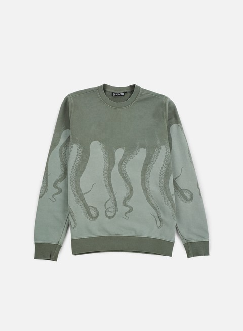 Sale Outlet Crewneck Sweatshirts Octopus Octopus Dyed Crewneck