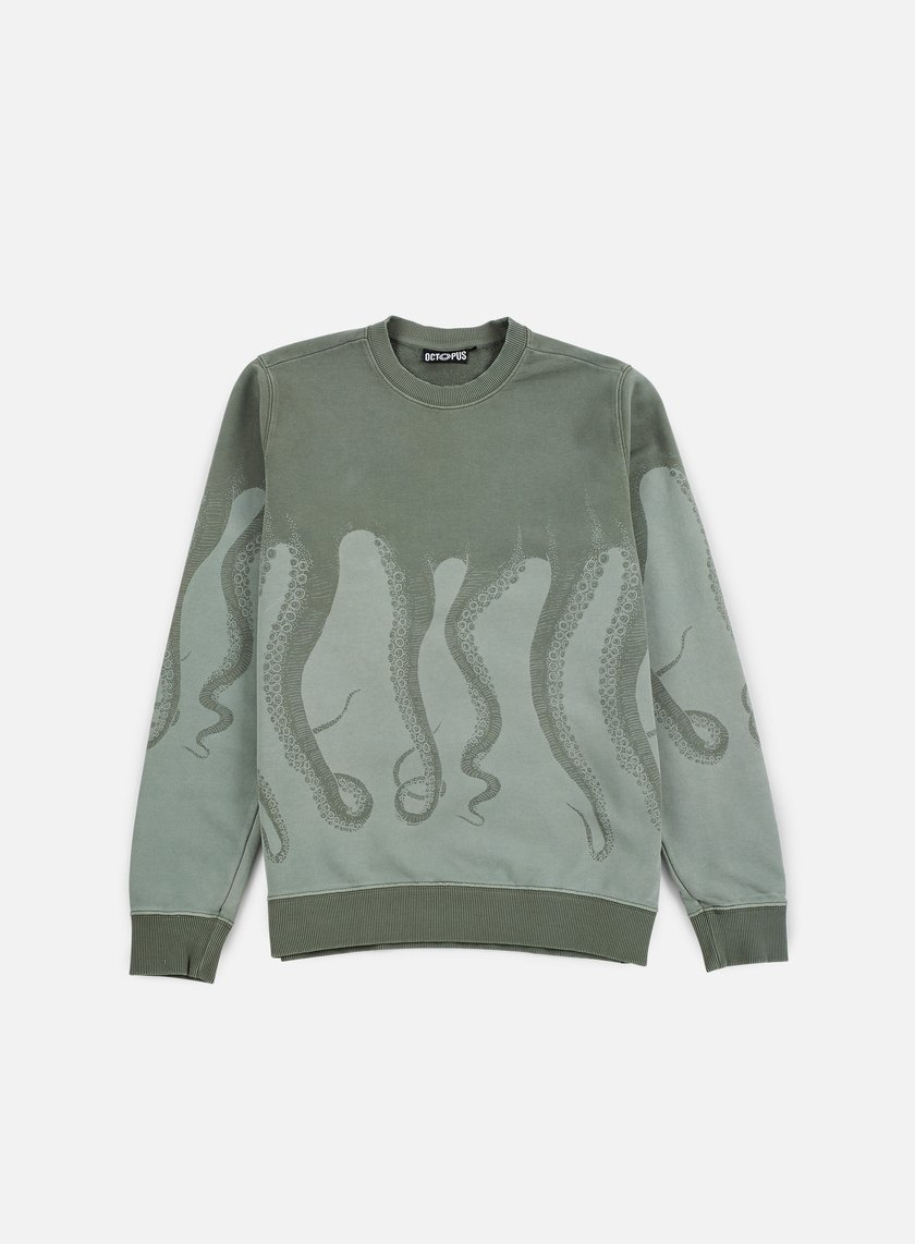Octopus - Octopus Dyed Crewneck, Army