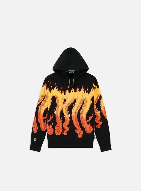 Felpe con Cappuccio Octopus Octopus Flames Hoodie