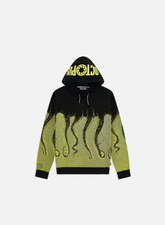 Octopus - Octopus Hoodie, Acid/Black
