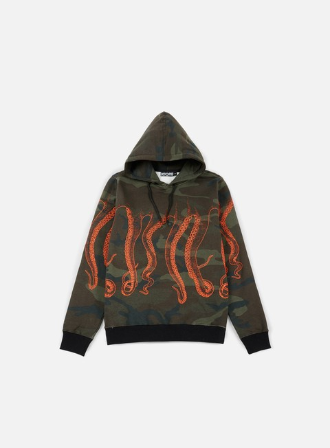 felpe octopus octopus hoodie camo orange out