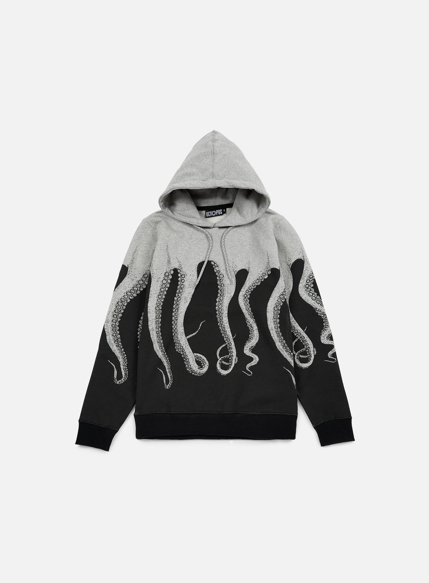 Octopus - Octopus Hoodie, Heather Grey