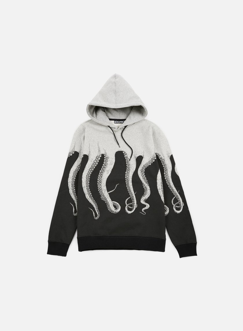 Octopus - Octopus Hoodie, Light Grey/Black String