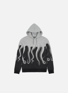 Octopus - Octopus Hoodie, Light Grey/Striped Strings