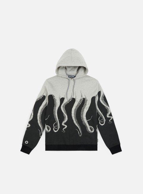 felpe octopus octopus hoodie light grey striped strings