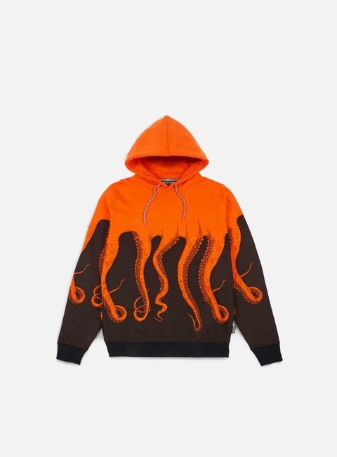 felpe octopus octopus hoodie orange striped strings