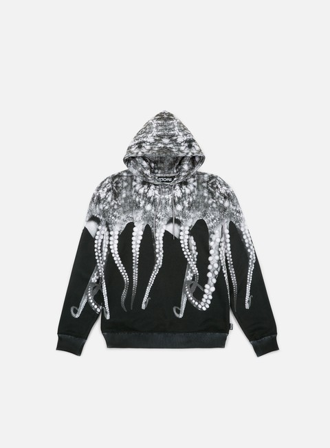 felpe octopus octopus hoodie poly grey black strings
