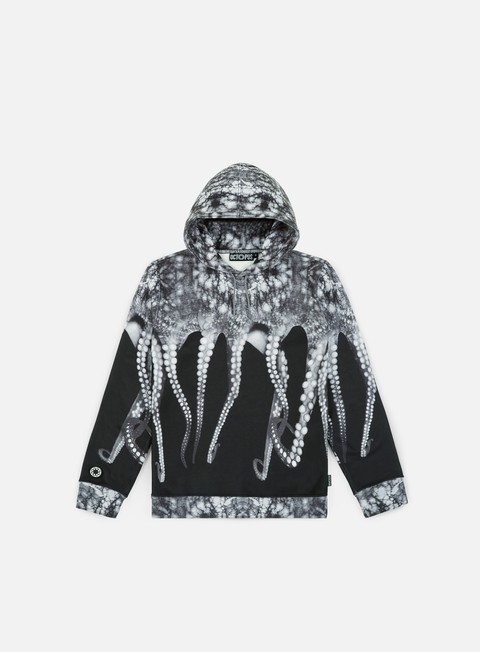 felpe octopus octopus hoodie poly real grey striped strings