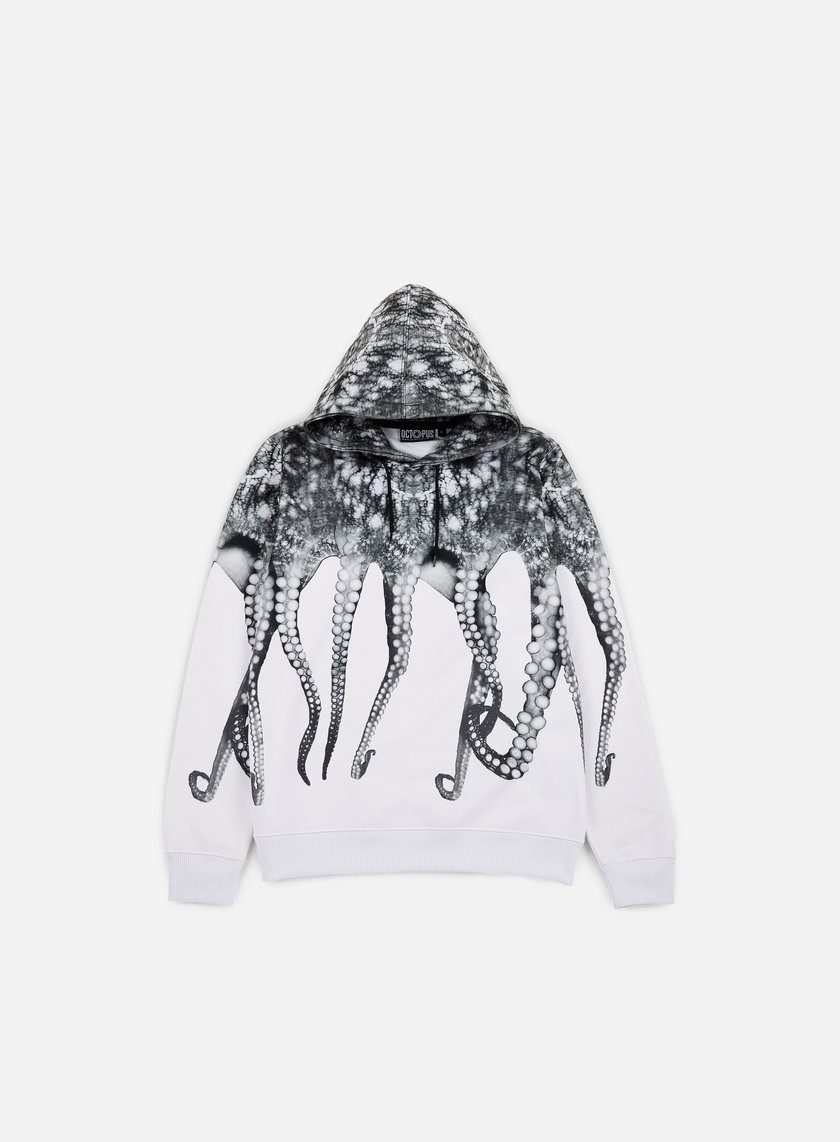 Octopus - Octopus Hoodie Poly, White