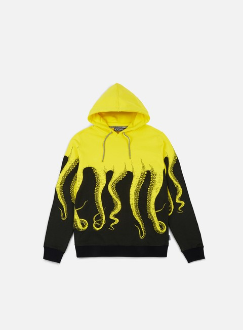 felpe octopus octopus hoodie yellow striped strings