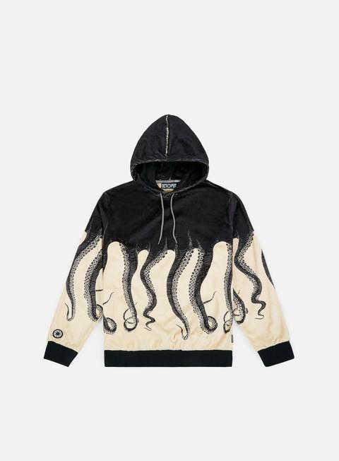 felpe octopus octopus teddybear hoodie cream black