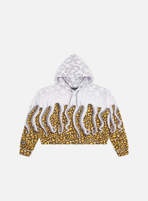 Hooded Sweatshirts Octopus WMNS Octopus Cropped Hoodie