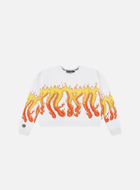 Octopus WMNS Octopus Flames Cropped Crewneck