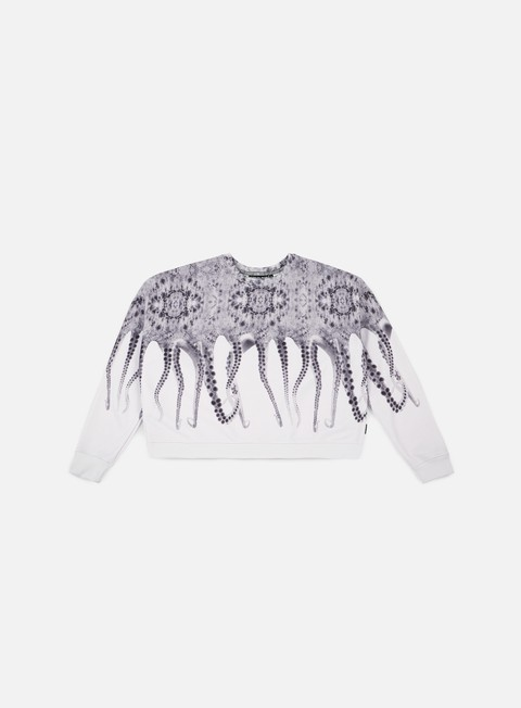 felpe octopus wmns octopus poly cropped crewneck realwhite