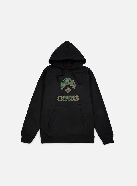 felpe osiris corporate hoodie black