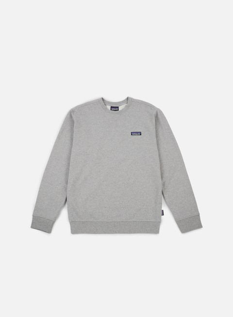 felpe patagonia p 6 label midweight crewneck feather grey