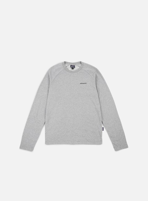 felpe patagonia p 6 logo lightweight crewneck feather grey black