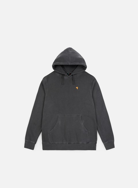 felpe pizza skateboards pigment dyed emoji hoodie black