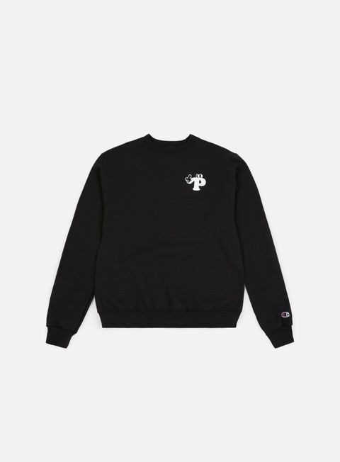 felpe pizza skateboards watch your step champion crewneck black