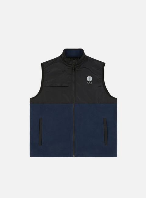 felpe polar skate halberg fleece vest black obsidian blue