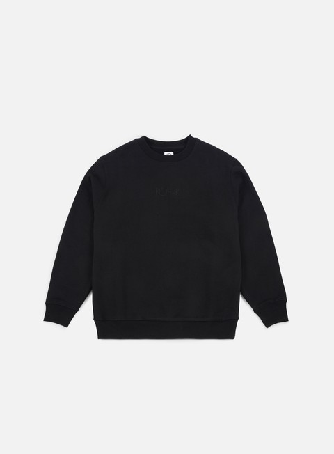felpe polar skate heavyweight default crewneck black