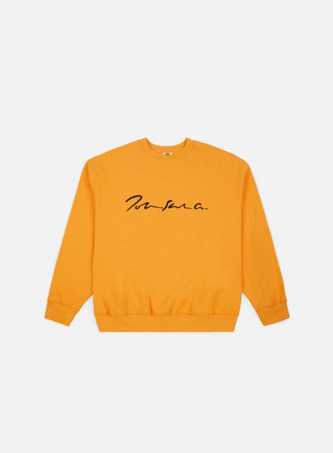 felpe polar skate signature crewneck yellow