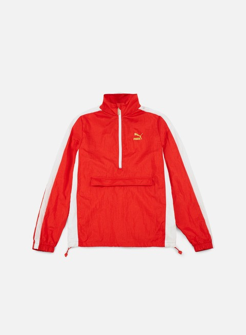 felpe puma b boy track jacket flame scarlet white