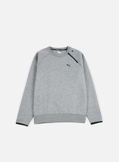 Puma - Evo Core Crewneck, Medium Grey Heather 1