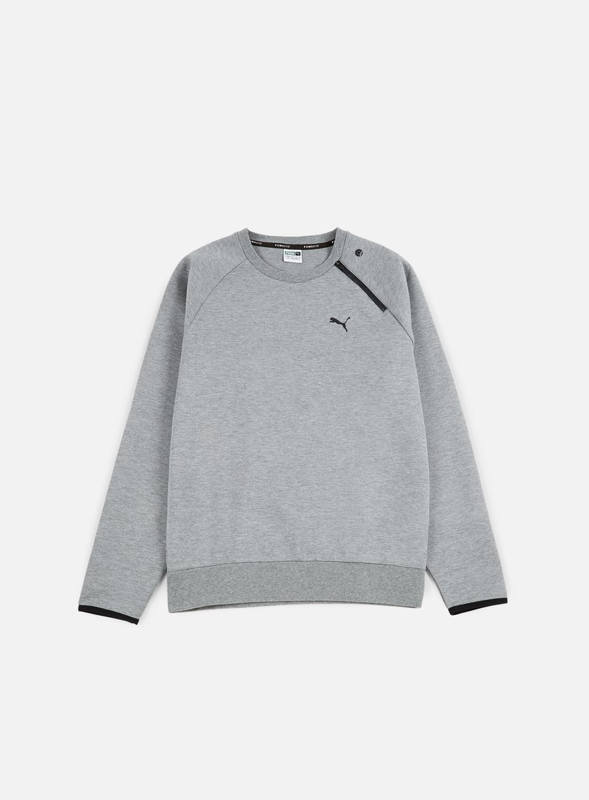 Puma - Evo Core Crewneck, Medium Grey Heather