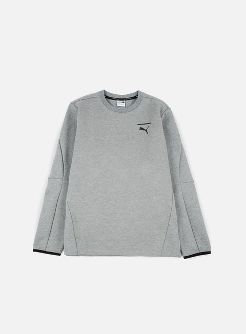 felpe puma evo core crewneck medium grey heather puma black
