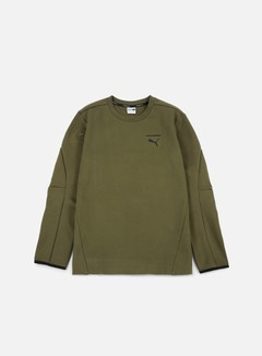 Puma - Evo Core Crewneck, Olive Night 1