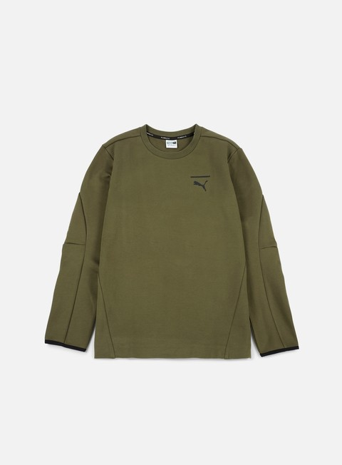 felpe puma evo core crewneck olive night