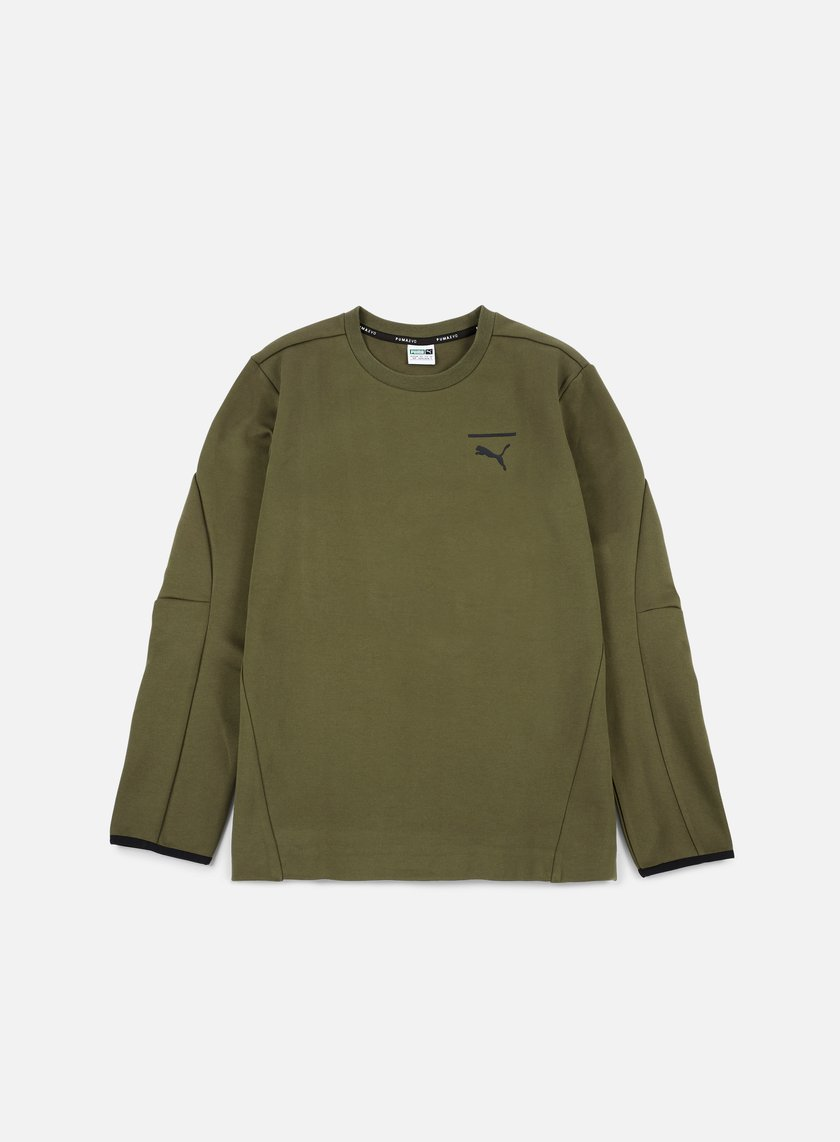 Puma - Evo Core Crewneck, Olive Night