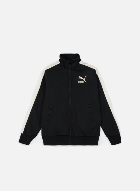 felpe puma t7 suede inserts jacket puma black