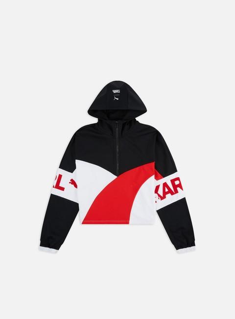 Outlet e Saldi Felpe con Cappuccio Puma WMNS PUMA x Karl Lagerfeld XTG Half Zip Hoodie