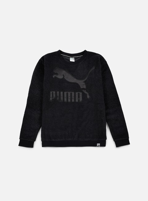 felpe puma wmns winterized crewneck puma black