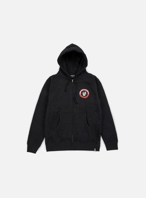 felpe rebel 8 angelino zip hoodie black