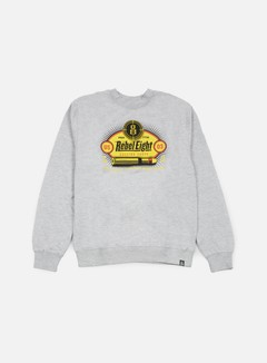 Rebel 8 - Calling Shots Crewneck, Athletic Heather 1