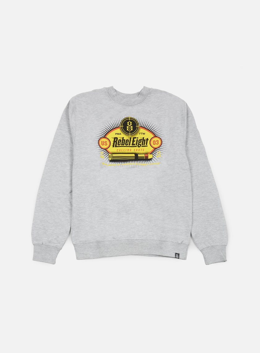 Rebel 8 - Calling Shots Crewneck, Athletic Heather