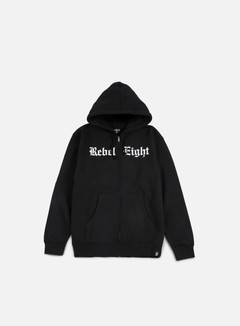 Rebel 8 - Hell Can't Hold Us Zip Hoodie, Black 1