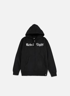 Rebel 8 - Hell Can't Hold Us Zip Hoodie, Black 1