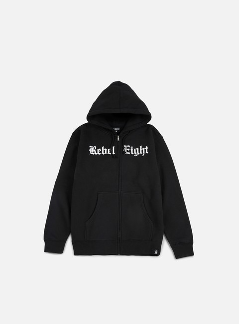 felpe rebel 8 hell can t hold us zip hoodie black