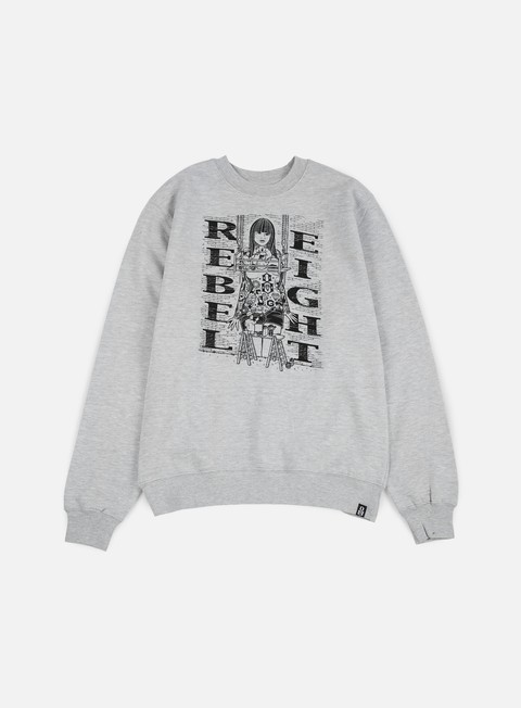 felpe rebel 8 hit the walls crewneck athletic heather